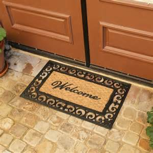 quot welcome to your fortress quot welcome door mat