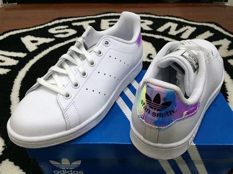 Adidas Stansmith Hologram Anak Pink adidas stan smith iridescent hologram juniors gs 4 7y