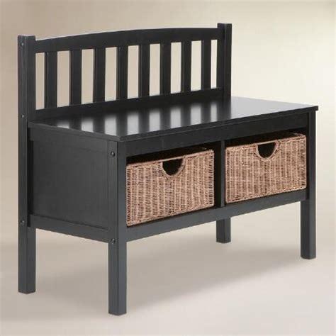 black storage benches black oakdale storage bench world market