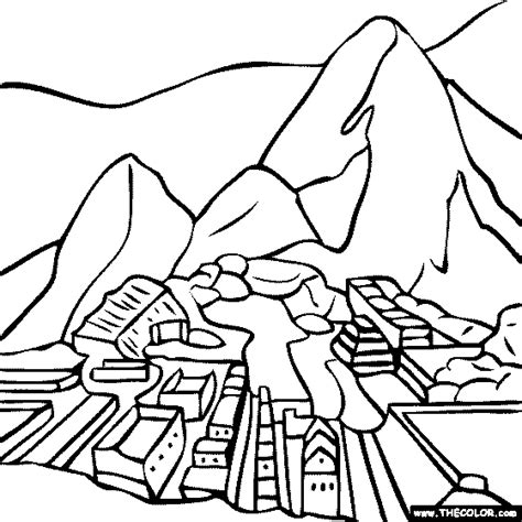 Coloring Map Of Peru Coloring Pages Peru Coloring Pages