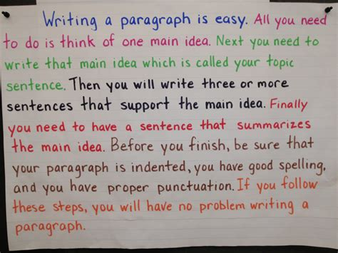 How To Write A Paragraph Essay by Write A Paragraph
