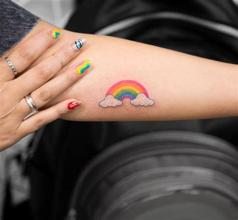 small rainbow tattoos best 25 ideas on craziest