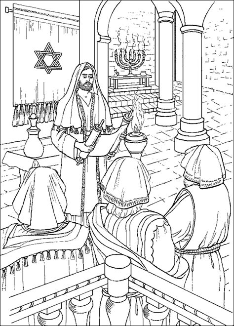 coloring page of jesus teaching jesus teaching in the synagogue coloring page