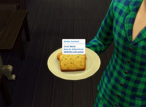 Olive Bread Custom Food by icemunmun at TSR » Sims 4 Updates