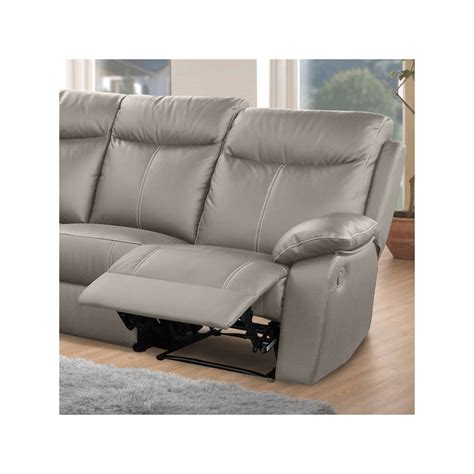 canape angle cuir 7 places canap 233 d angle relax 7 places cuir vyctoire univers des