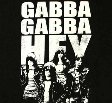 gabba gabba hey ramones gabba gabba hey black バンドtシャツ ロックtシャツの通販