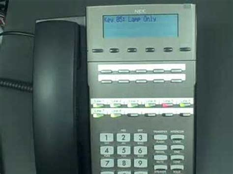 nec dsx reset voicemail password nec dsx 22b display telephone line ringing youtube