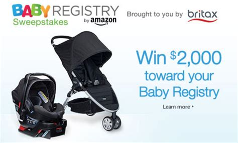 Amazon Baby Registry Sweepstakes - amazon baby registry britax sweepstakes enter online sweeps