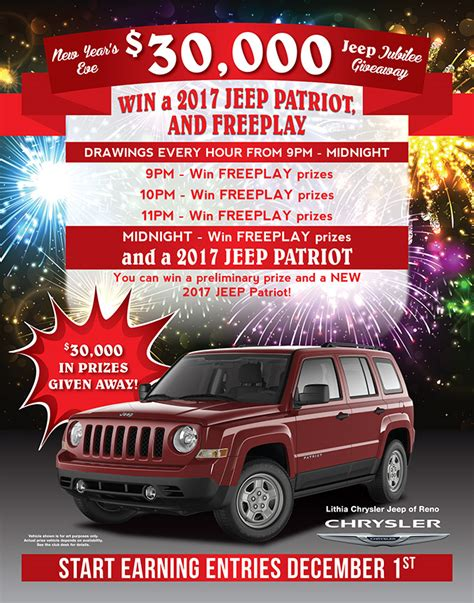 Jeep New Year by New Years 2016 Jeep Giveaway Baldini S Sports Casino