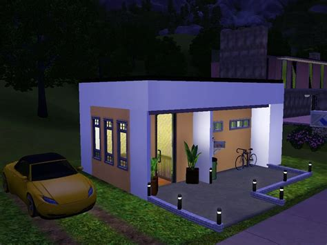 Modern Houses Floor Plans by Sims 3 Very Small Modern House Youtube