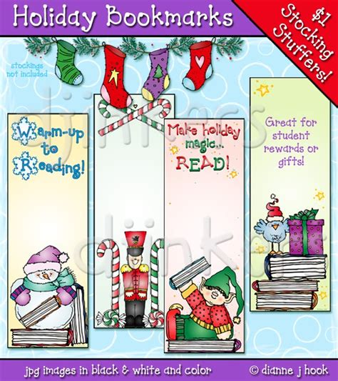 free printable november bookmarks printable holiday bookmarks made with clip art by dj
