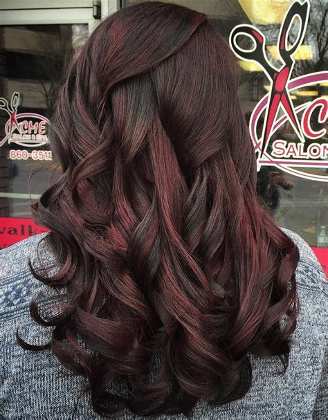 dark hair with mahogany highlights 50 chocolate brown hair color ideas for brunettes
