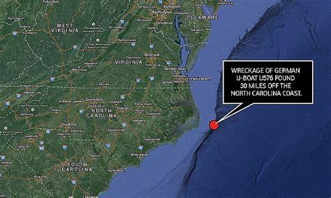 the ghosts of u576 german u boat is found is 30 miles off - German U Boat Locations