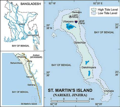 map of st island the map of st martin s island bangladesh source www