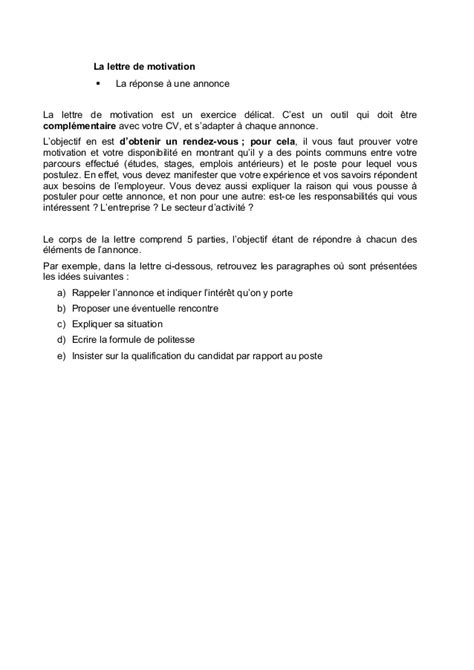 Lettre De Motivation De Dcg Cv Vid 233 O Et Lettre De Motivation