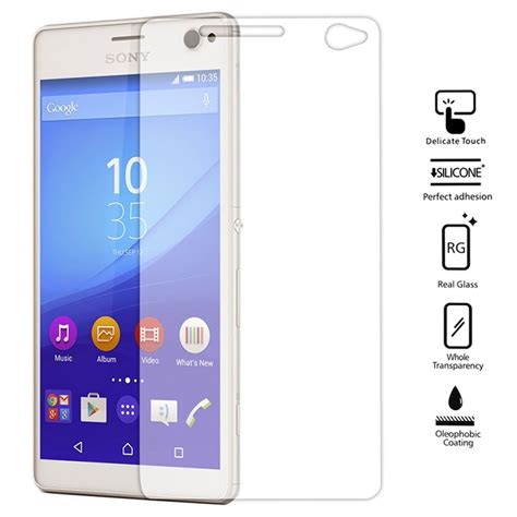 Tempered Glass Screen Protecto Sony Experia C3screen Guard Dony C3 tempered glass screen protector for sony xperia c4 lazada malaysia