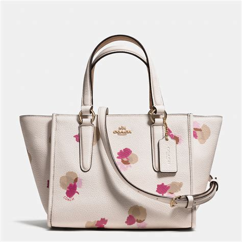 Coach Mini Floral coach mini crosby carryall in floral print pebble leather