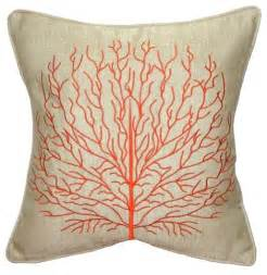 pillow decor coral 17 x 17 throw pillow orange