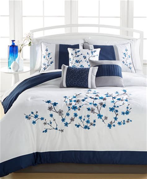 Set Kiara Blue navy 7 pc comforter sets created for macy s