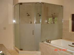 frosted glass shower doors frameless shower doors