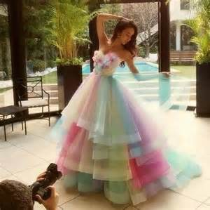 pastel rainbow gown pictures photos and images for