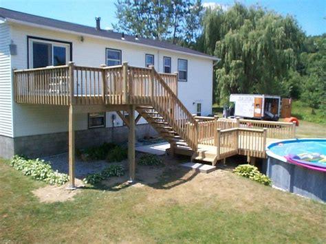multileveldeckideas find  ground pool deck