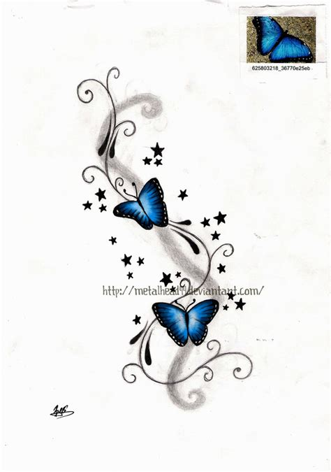 blue butterfly tattoo designs butterfly tattoos and designs page 451