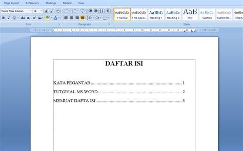 membuat garis titik di word cara membuat daftar isi dengan titik titik otomastis di