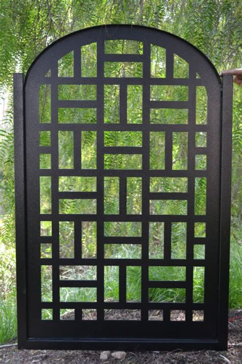 Modern Wrought Iron Gates And Fences Metal Gate Contemporary Modern Pedestrian Walk Thru Entry