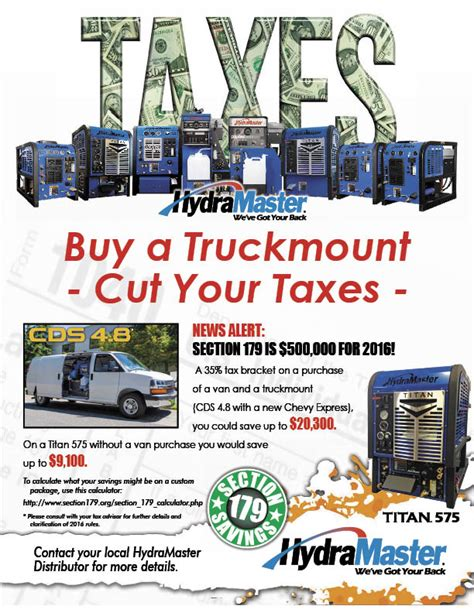 section 179 on rental property section 179 2016 tax deduction why buy a truckmount now