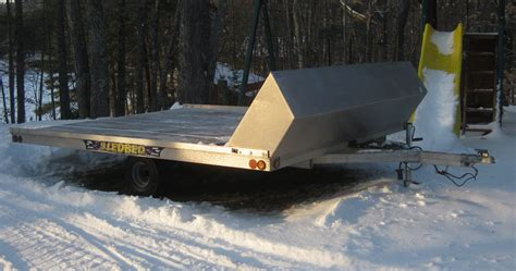 sled bed trailer sled bed 101 quot x 10 open trailer classified slednh com