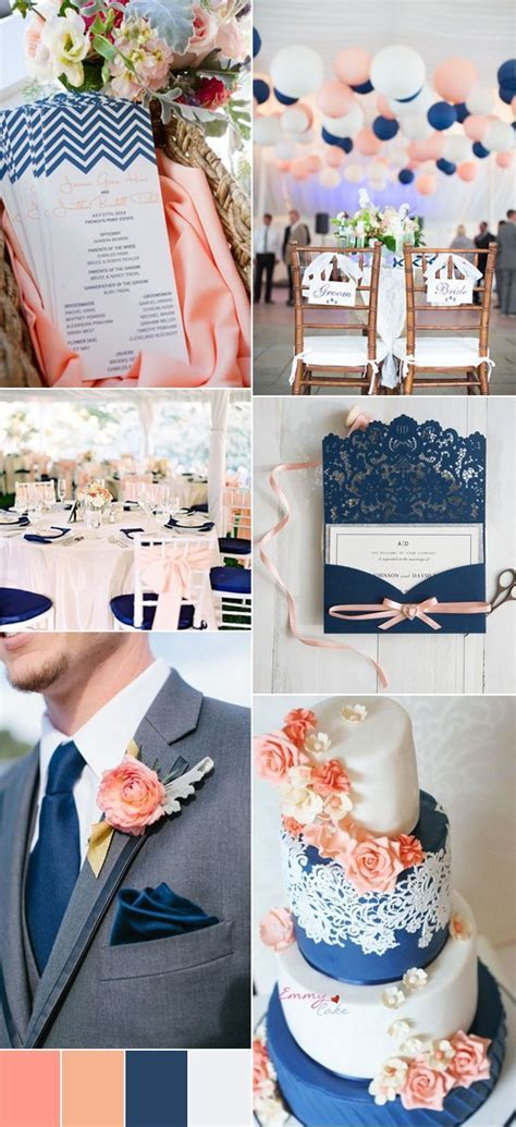 The Top 8 Peach Wedding Colors Combinations Trends for