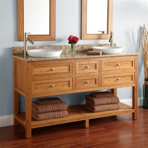 thayer bamboo double vanity  undermount sinks double sink vanities bathroom vanities