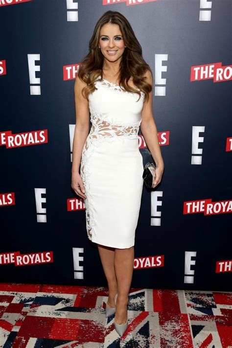 Liz Hurley In Brittish In Style by The Royals Elizabeth Hurley On Being Instyle