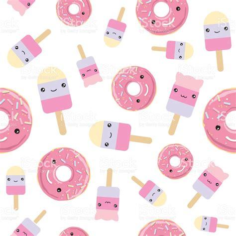 imagenes de rosquillas kawaii nahtlose muster cute kawaii gestylt eis und rosa glasierte