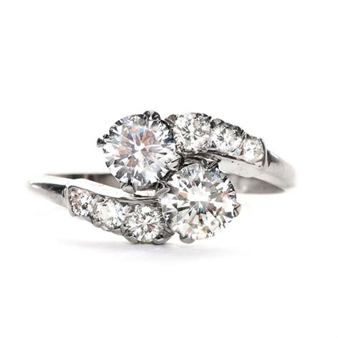 Two Engagement Rings two ring settings wedding promise