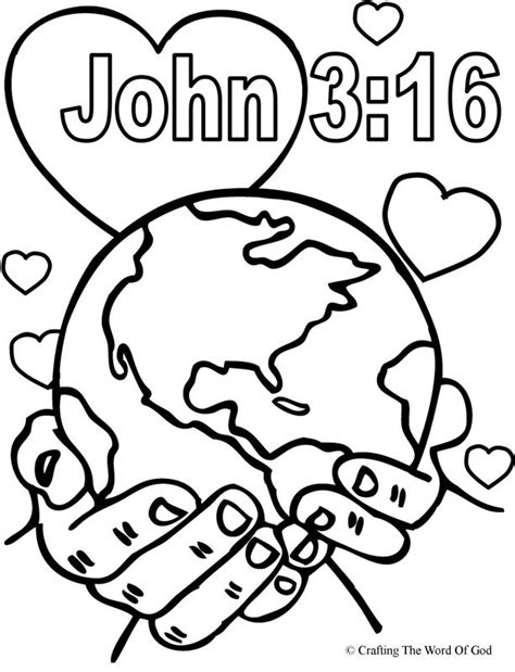 god so loved the world coloring page 171 crafting the word