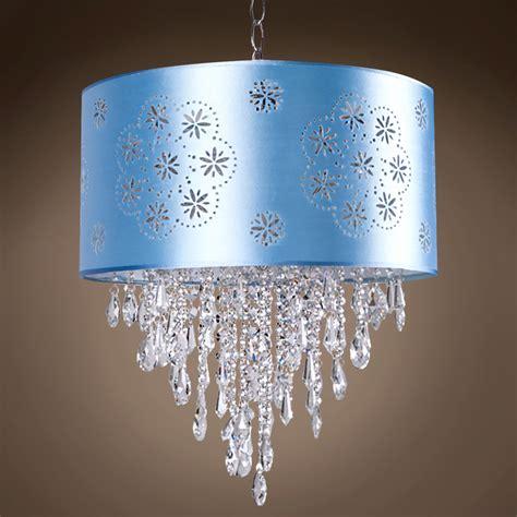 blue drum l shade joshua marshal 1 light blue drum shade pendant in chrome