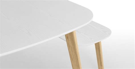 dante dining table and bench set oak and white made