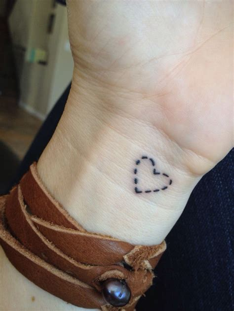 small love heart tattoo small tattoos