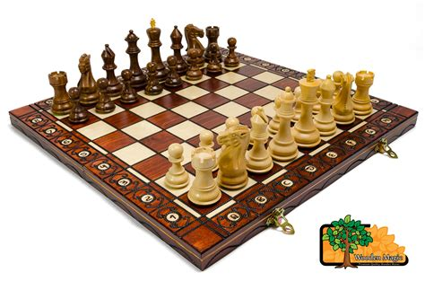 beautiful chess set rosewood staunton l 41cm 16 2in wooden weighted