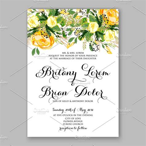 yellow wedding invitations wedding invitation yellow invitation templates