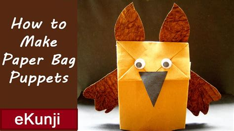 How To Make Paper At Home For - paper bag puppets how to make puppets for at