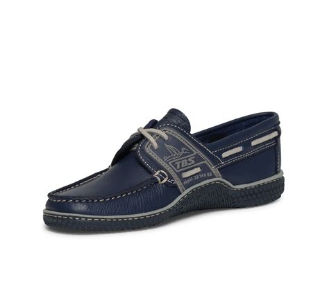 Bleu Marine Gris chaussure bateau tbs bleu marine et gris en cuir bleu