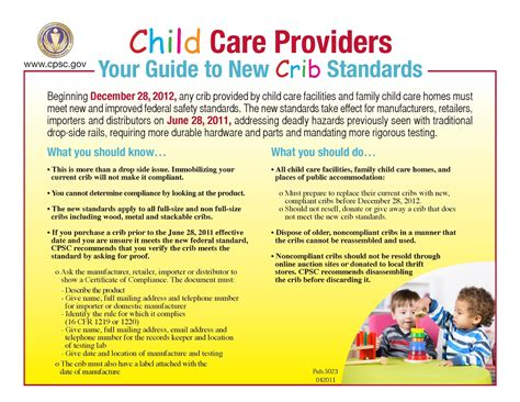 Crib Safety Guidelines by Pathways Pa Policy New Crib Standards