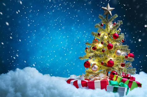 holidays christmas gifts christmas tree snow wallpaper
