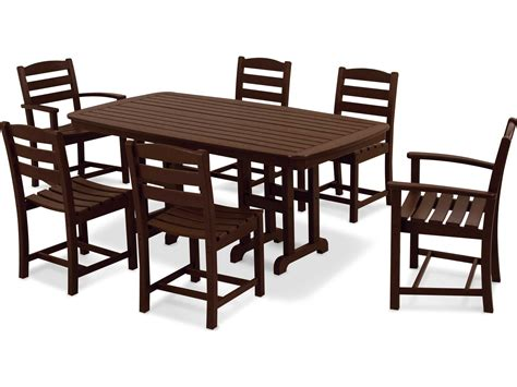 POLYWOOD® La Casa Cafe Casual Patio Dining Set Six Chairs