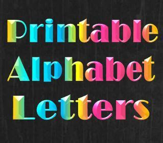 printable alphabet letters templates stencils