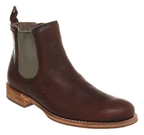 mens caterpillar aw10 zachary chelsea boot brown leather boots