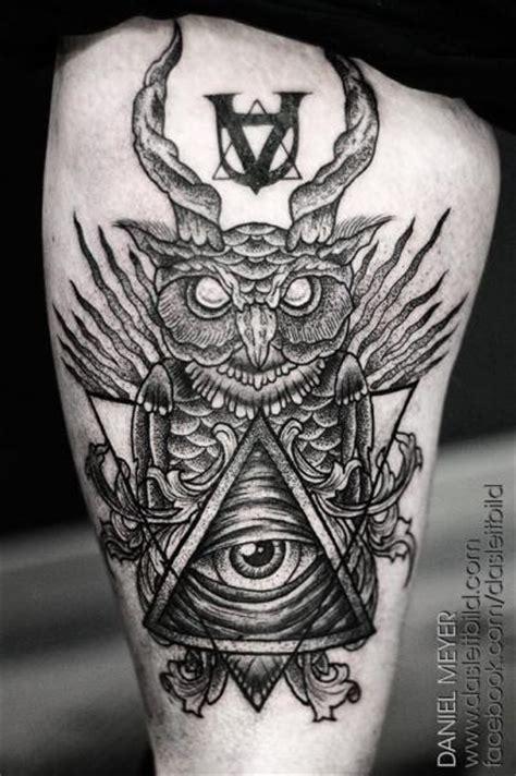 tattoo mandala coruja tatuagem coruja deus dotwork coxa por leitbild